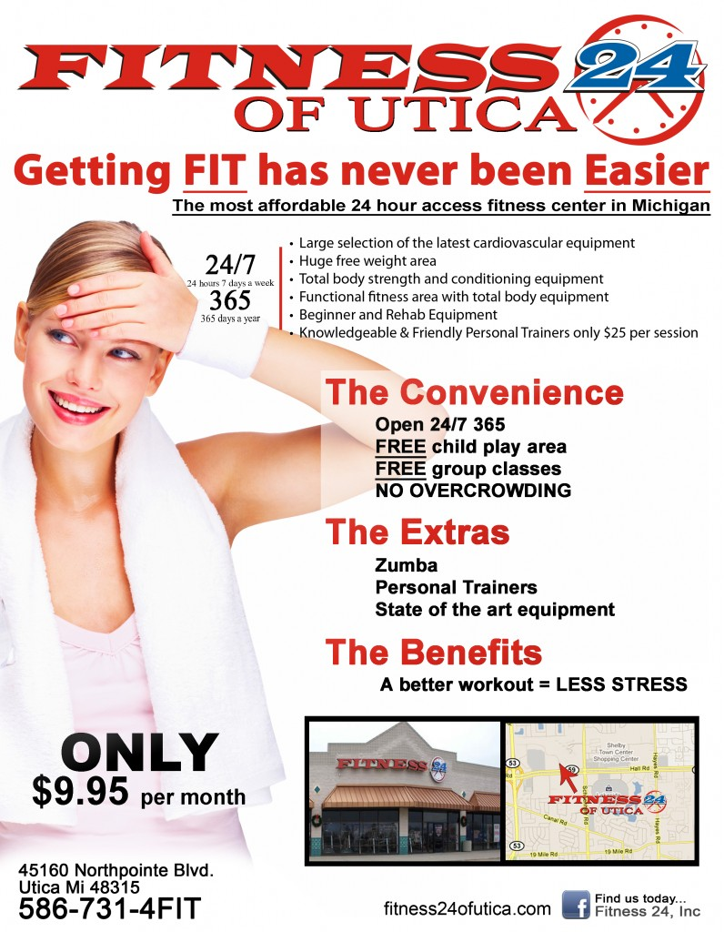 Fitness 24 of Utica - Flyer