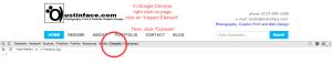 Website Validation - Google Chrome inspect element ERROR console - Example
