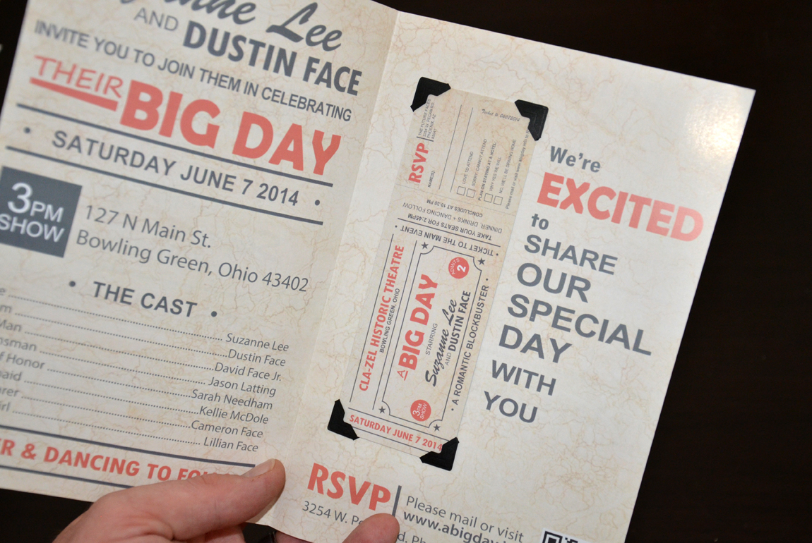 a big day wedding invitations posters post cards magnets