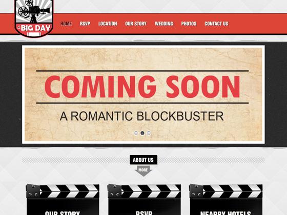A Big Day Wedding Website - Website Design